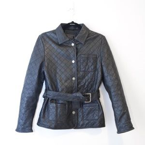 WILSON'S LEATHER Quilted Plush Leather Jacket